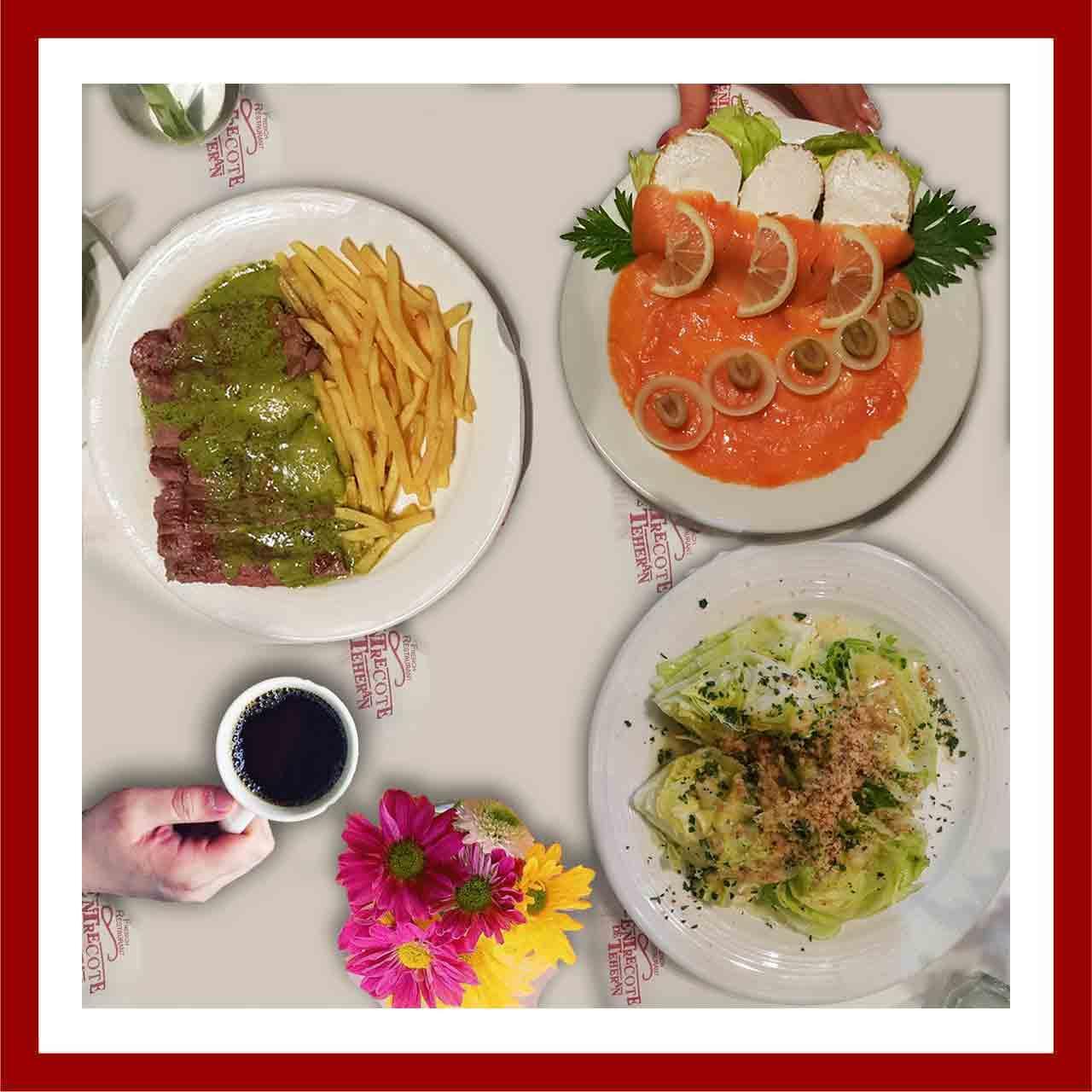 میز غذای رستوران آنتروکوت